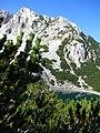 Връх Синаница и езеро Синаница, Пирин. Поглед от Синанишката порта.jpg
