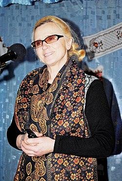 Марія Романчук на святкуванні 575-річчя першої письмової згадки про с. Жнибороди, лютий 2011