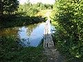 Мостик на реку Колпанскую, приток Парицы, приток Ижоры - panoramio.jpg