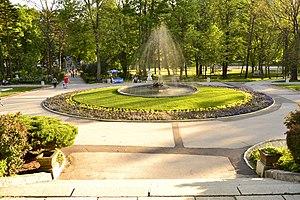 Aranđelovac - The park of Arandjelovac Spa in Aranđelovac.