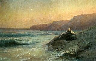 Картина «Пушкин на берегу моря», художник Иван Айвазовский, 1887, художественный музей, Николаев