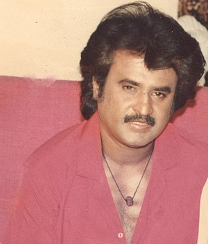 Rajinikanth - Rajinikanth in 1989, during the shooting of Raja Chinna Roja