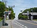 国道24号鴨神交差点と風の森バス停 Kamogami intersection and Kazenomori bus stop 2011.5.14 - panoramio.jpg