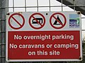 -2018-09-22 No overnight parking or camping sign, Trimingham Cliffs.JPG