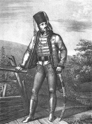 Kaikhosro III Gurieli - An officer of the Georgian Hussar Regiment, 1741–1761.
