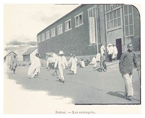 057 Dakar. - Les entrepôts
