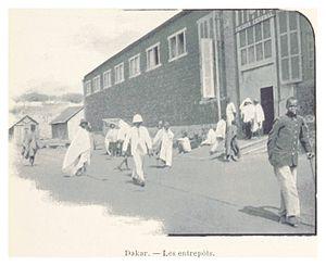 Dakar - Dakar Entrepôt. ca. 1900