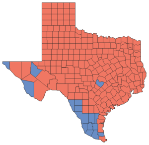 United States Senate election in Texas, 2006 - Image: 06TXSenate Counties