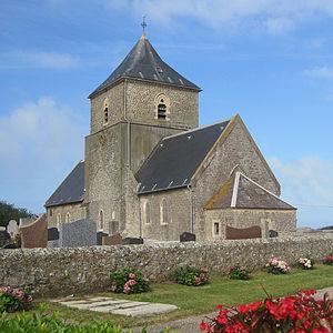 Audresselles - The church of Saint-Jean-Baptiste (12th century)