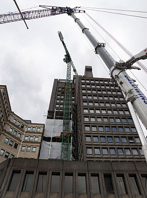 103 Colmore Row - Demolition tower crane installed in 2015