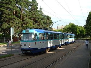 Mežaparks - Image: 11.tramvajs Mežaparkā