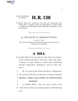 116th United States Congress H. R. 0000130 (1st session) - John Tanner Fairness and Independence in Redistricting Act.pdf