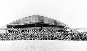 12th Aero Squadron - Squadron photograph, probably taken at Julvecourt in November 1918 after the armistice
