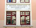 146 Escoles Salvador Lluch (Gavà), edifici nord, façana c. Àngel.JPG