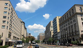 major thoroughfare in Washington, D.C.; a metonym for the United States lobbying industry