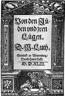 <i>On the Jews and Their Lies</i> Book by Martin Luther
