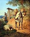 1831 Heideck Esel Hund und Treiber anagoria.JPG