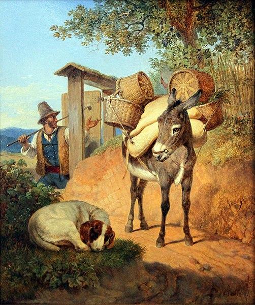 File:1831 Heideck Esel Hund und Treiber anagoria.JPG