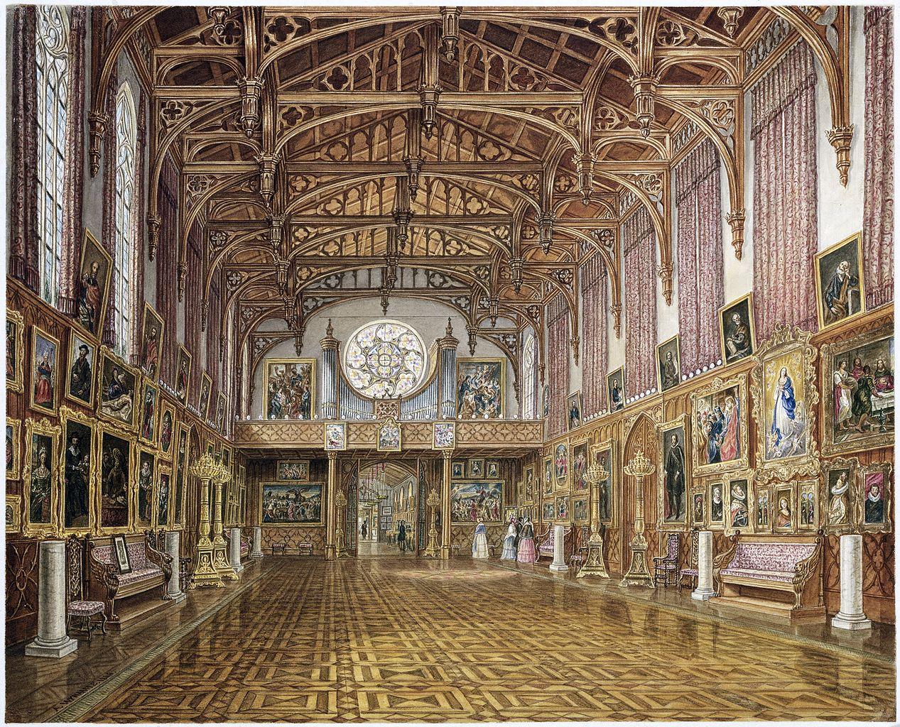 File 1846 interior of the gothic hall kneuterdijk palace for Interieur niederlande