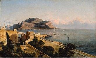 George Loring Brown - Image: 1856 Mote Pellegrino Palermo by George L Brown MFA Boston