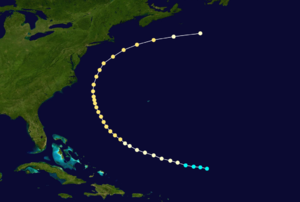 1862 Atlantic hurricane season - Image: 1862 Atlantic hurricane 3 track