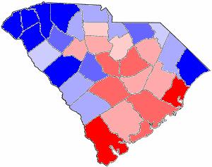 South Carolina gubernatorial election, 1876 - Image: 1876SCGov Results