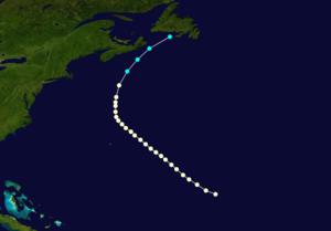 1877 Atlantic hurricane season - Image: 1877 Atlantic hurricane 3 track