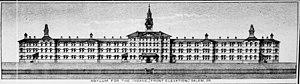 Oregon State Hospital - Image: 1881 Oregon State Insane Asylum