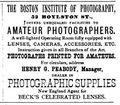 1886 Boston Institute of Photography BoylstonSt AnthonysPhotoBulletin v27 no6.png