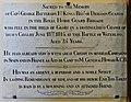 18 June 1815 – Waterloo – St Joseph's Church, Tablet Left, 13.jpg