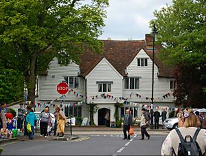 Whitehall, Cheam - Whitehall during Cheam Charter Fair in May