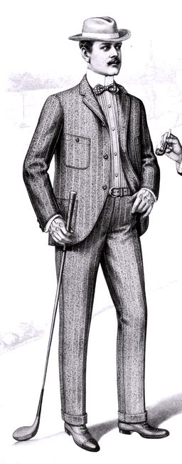 1901 Sartorial Arts Journal Fashion Plate Men's Patch Pocket Suit