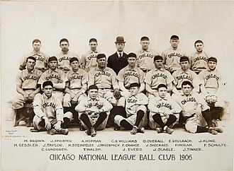 Chicago Cubs - The 1906 Cubs won a record 116 of 154 games. They then won back-to-back World Series titles in 1907–08