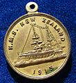 1913 Medal HMS NZ Battleship NZ Visit, obverse.jpg