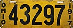 1917 Porcelain Ohio License Plate.jpg