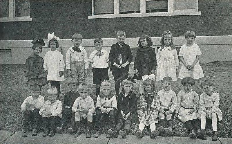 800px 1921 Locust yearbook p. 100 (Kindergarten) - Origin Of Kindergarten