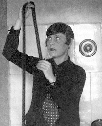Lilya Brik - Lilya Brik shown editing film in 1928