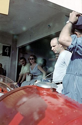 Juan Manuel Fangio - Fangio at the 1957 Argentine Grand Prix in Buenos Aires