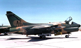 195th Fighter Squadron - 195th TFS A-7D 71-330, about 1985