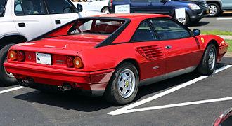 Ferrari Mondial - Rear view of Mondial Quattrovalvole