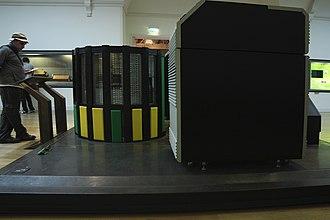 Cray-2 - Side view of 1985 Supercomputer Cray-2, Musée des Arts et Métiers, Paris