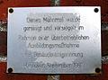 1997 Tafel Dieses Mahnmal wurde gereinigt und versiegelt im Rahmen einer überbetrieblichen Ausbildungsmaßnahme der Gebäudereinigerinnung.jpg