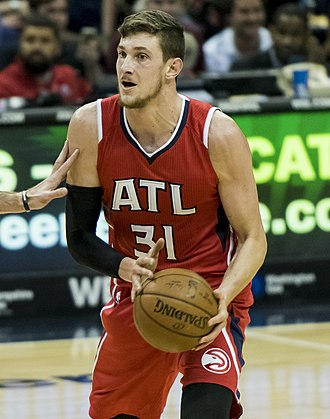 Mike Muscala - Muscala with the Atlanta Hawks