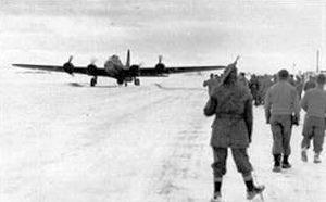 Malmstrom Air Force Base - The first B-17 landing at Great Falls AAB, 30 November 1942