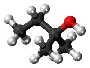 Alcohol - Image: 2 Methyl 2 butanol 3D balls
