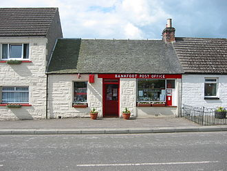 Bankfoot - Bankfoot Post Office stands on the village's Main Street.