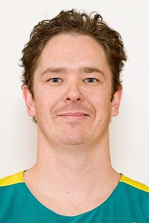 Brett Stibners - Portrait of Australian Paralympic wheelchair basketballer Stibners in 2012