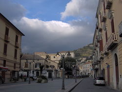 A boulevard in Maiori.