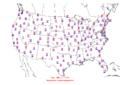 2006-03-23 Max-min Temperature Map NOAA.png