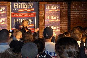 Timeline of Manchester, New Hampshire - Image: 2007 Hillary Clinton Manchester NH USA 528989796 39ed 2a 406e o
